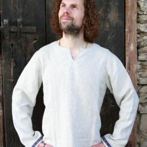 Pánská lněná košile (bez stuhy)